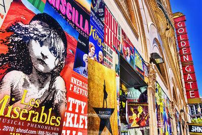 Mitchell Funk, 'Street Art Poster Wall  Golden Gate Theater Tenderloin', 2019