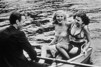 Helmut Newton, 'Babes in Rowboat', 1979