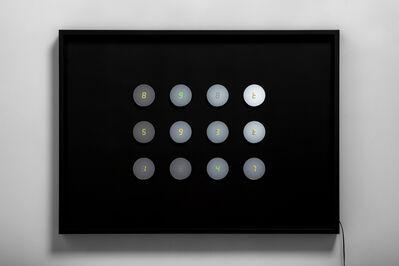 Tatsuo Miyajima, 'Changing Time with Changing Self - small circle no.14', 2020
