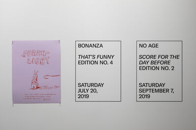 "Will Rogan, 'Posters for ""Performance as Edition""', 2019"