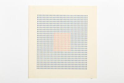 Tomaso Binga, 'Typecode 5', 1978