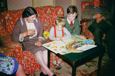 Geoffrey Valentine, 'Colouring In with Nanna', 1963