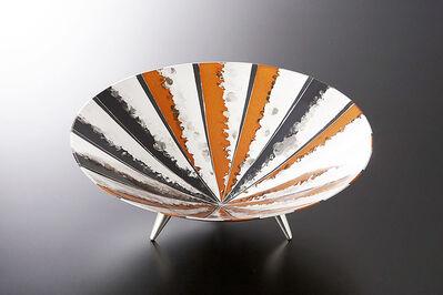Oshiyama Motoko, 'Hana (flower) footed plate', 2006