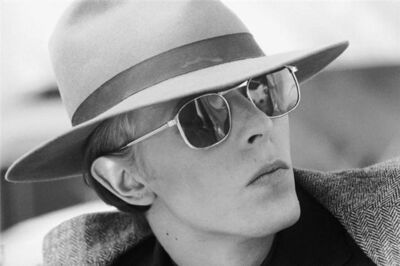 Terry O'Neill, 'David Bowie Fedora and Glasses', 1975
