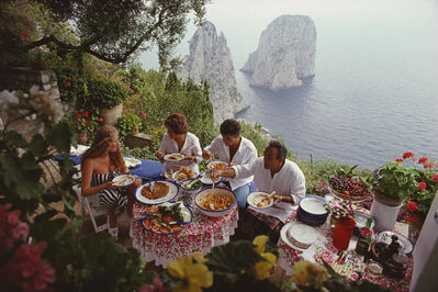Slim Aarons, 'Dining Al Fresco On Capri', 1980