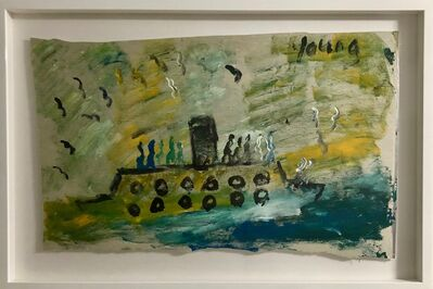 Purvis Young, 'Submarine', ca. 2004