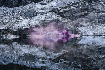 Isabelle & Alexis, 'Folgefonna - Purple amethyst cloud mirroring itself on a Norwegian lake', 2014