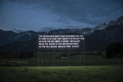 Robert Montgomery, 'Loegang Poem, Austrian Alps', 2015
