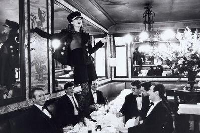 Arthur Elgort, 'Kate Moss, Café Lipp, Paris, Vogue Italia', 1993