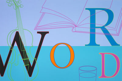 Michael Craig-Martin, 'Word', 2010