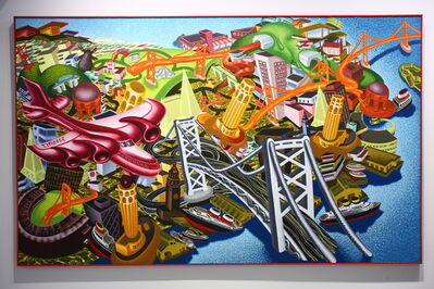 Peter Saul, 'View of SF/Red Plane', 1985