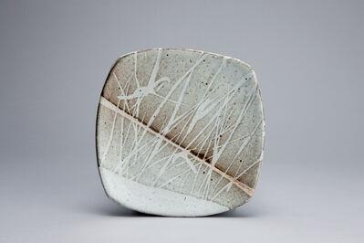 Randy Johnston, 'Square cut plate, nuka glaze with wax pattern', n/a