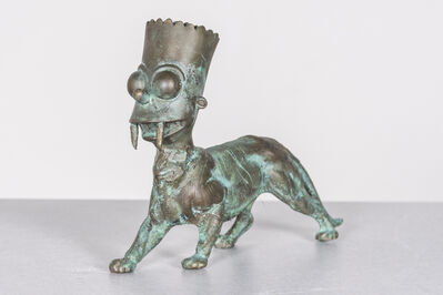 Joshua Goode, 'Pop Culture Bronze Sculpture: 'SaBart-Toothed Cat'', 2020