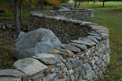Andy Goldsworthy, 'Five Men, Seventeen Days, Fifteen Boulders, One Wall', 2010