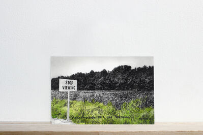 """Martí Cormand, 'Postcards to C: N.E. Thing Co., """"Stop Viewing, 1969""""', 2016"""
