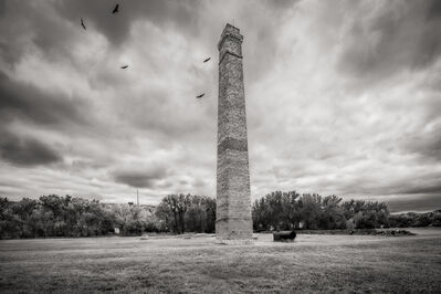 John Custodio, 'Chimney,  De Mores Packing Plant Ruins,  Medora, North Dakota'