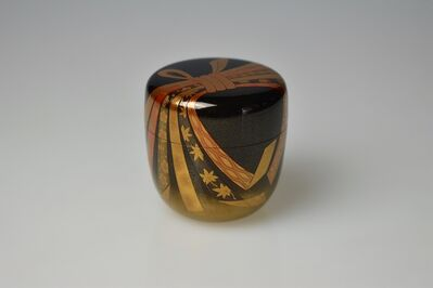 Ichigo Itchō, 'Gold Lacquer Tea Caddy with Festive Knot and Ribbons', Shōwa period