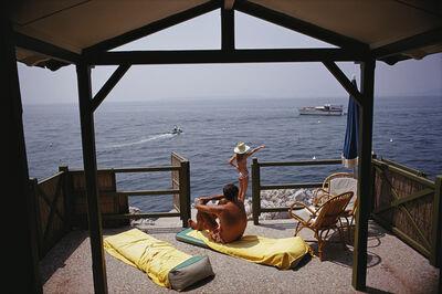 Slim Aarons, 'Beach Hub In Antibes', 1969