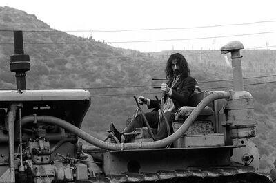 Baron Wolman, 'Frank Zappa on tractor B&W', 1960-1970