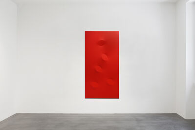 Turi Simeti, '5 ovali rossi', 2018