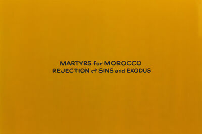 Daniel Joseph Martinez, 'Martyrs for Morocco Rejection of Sins and Exodus', 2007