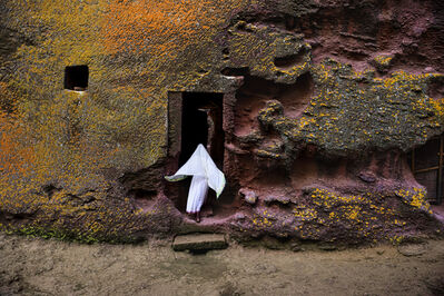 Steve McCurry, 'Woman Enters Medieval Rock-Hewn Church, Ethiopia', 2016