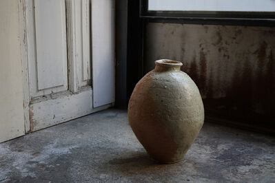 Shiro Tsujimura, 'Large  jar natural ash glaze'