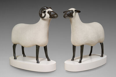 François-Xavier Lalanne, 'Bélier and Brebis, from the Nouveaux Moutons series', 1998-2000