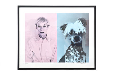 Christopher Makos, 'Andy  Warhol and Chinese  crested', ca. 1980