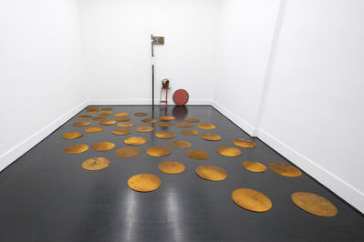 Olu Oguibe, 'Composition with Steel Discs', 2019