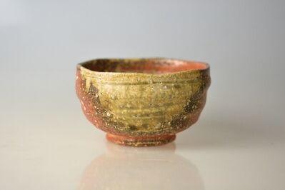 Takahashi Rakusai IV, 'Shigaraki Tea Bowl with Excellent Shape and Rough Stone Flowering Texture', 20th Century