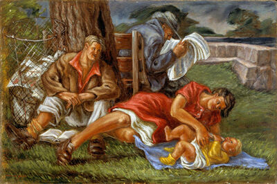 Frederick Hagan, 'Family at Fairy Lake', 1971