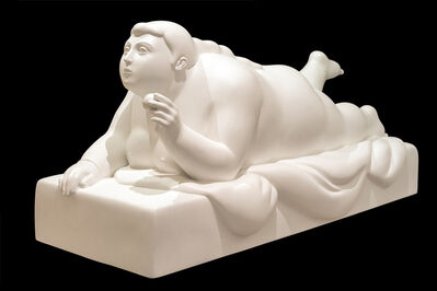 Fernando Botero, 'Woman Resting Holding a Ball', 2013