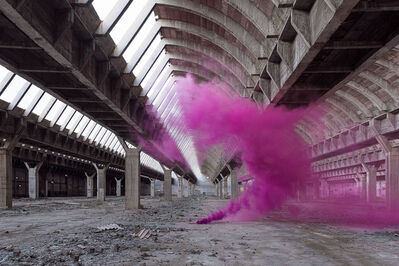 Isabelle & Alexis, 'Andalousie - A purple smoke bomb sculpts itself to fit the architecture of an abandoned factory in Spain', 2016