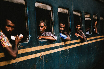 Justin Mott, 'A view of the crowded train station in Ishwardi, Bangladesh. This past March, a violent protest occurred at the Ishwardi EPZ.'
