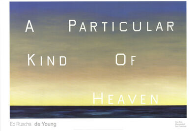 Ed Ruscha, 'A Particular Kind of Heaven', 2001