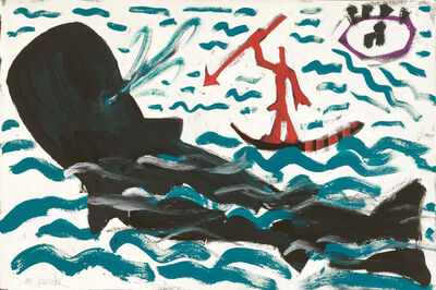 A.R. Penck, 'Whale-Hunting', 1991