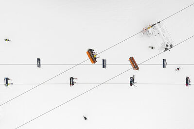Kacper Kowalski, 'Depth of Winter, Skiers #01'
