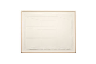 Donald Judd, 'Concrete drawing', 1974