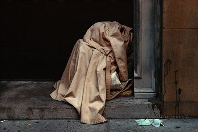 Frank Horvat, 'New York, homeless person, under raincoat', 1984