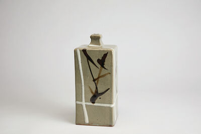 Shōji Hamada, 'Square bottle, iron glaze with white cross', n/a