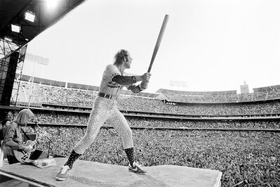 Terry O'Neill, 'Elton John Dodger Stadium, Batting', 1975