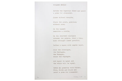 William Scott (1913-1989), 'Towards Euclid (a Poem for Alexander)'