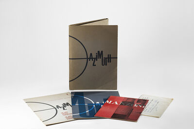 Piero Manzoni, 'Piero Manzoni, folder published in 100 copies in March 1961 containing both numbers of Azimuth magazine (1959-1960) and documents of the exhibitions held at the Galleria Azimut.'