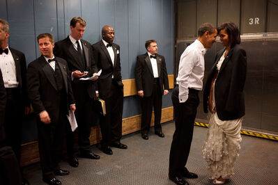Pete Souza, 'Barack Obama and Michelle Obama in an elevator on their way to an Inaugural ball', 2009