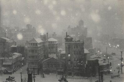 Gen Otsuka 大束 元, 'Title unknown (tokyo snowscape)', 1951