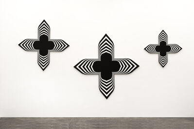 Philippe Decrauzat, 'Black Paintings (triptych) ', 2008