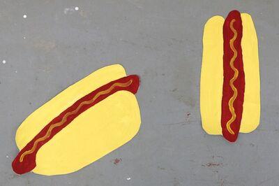 Oscar Figueroa, 'Hot dog angled view, Hot dog overhead view', 2016