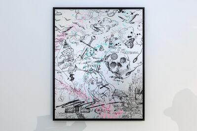 Joseph Klibansky, 'Feeling My Way Through Darkness (Silver/Black, Pastel Pink and Turquoise Splash)', 2021