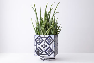 Elisabeth Kley, 'Coptic Planter with Clover Diamonds', 2020